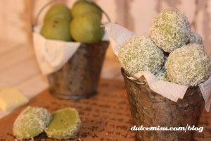 Trufas de té matcha y coco (2)