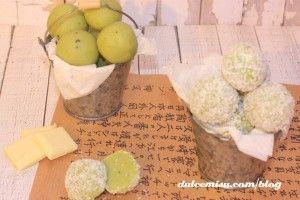 Trufas de té matcha y coco