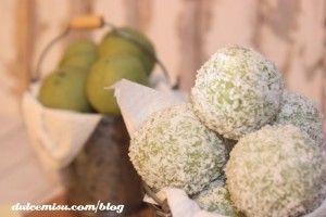 Trufas de té verde con coco
