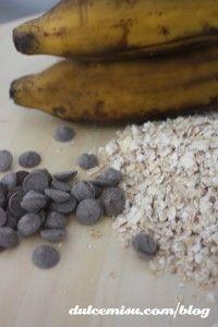 Galletas de avena, plátano y chips de chocolate (1)