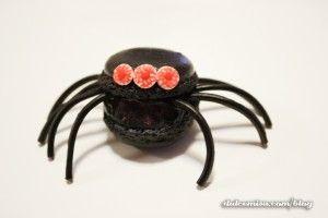 Macarons de araña. Halloween (20)